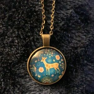 Deer Glass Necklace